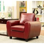 Hokku Designs Collbran Club Chair; Red