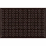 Apache Mills Textures Blocks Doormat; Walnut