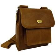 AmeriLeather Gorgeous Leather Antony Messenger Bag; Brown