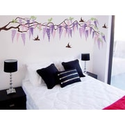 Pop Decors Beautiful Wisteria Decals Removable Vinyl Art Wall Decal