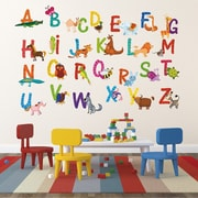 Pop Decors Repositionable 26 Alphabet Animals Wall Decal