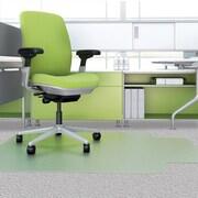 Deflect-o EnvironMat  Low Pile Straight Edge Chair Mat; 0.63'' H x 36'' W x 48'' D