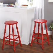 TMS Emmet 30'' Bar Stool (Set of 2); Red