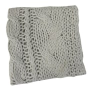 Bedford Cottage-Kennebunk Home Bedford Cottage Hampton Hand Knitted Throw Blanket; Oyster