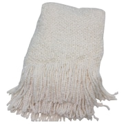 Bedford Cottage-Kennebunk Home Campbell Woven Throw Blanket; Ecru
