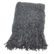 Bedford Cottage-Kennebunk Home Campbell Woven Throw Blanket; Platinum