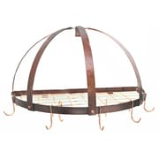 Rogar Gourmet Half Dome Wall Mounted Pot Rack with Grid; Hammered Copper/Copper