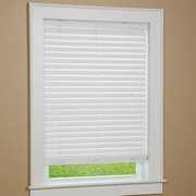 Green Mountain Vista One Touch Cordless Faux Wood Venetian Blind;  64'' W x 38'' L