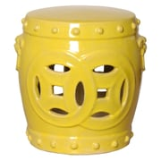 Emissary Double Fortune Garden Stool; Yellow