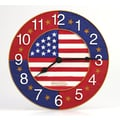 Taylor Springfield 12'' American Flag Clock