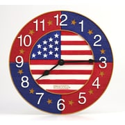Taylor Springfield 13'' American Flag Clock