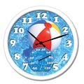 Taylor Springfield 14'' Beach Ball Clock and Thermometer