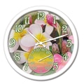 Taylor Springfield 14'' Tropical Flowers Clock and Thermometer