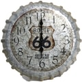 Taylor Springfield Oversized 14.2'' Route 66 Bottle Cap Clock