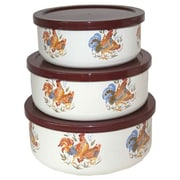 Corelle Country Morning 6 Piece Food Storage Set