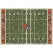 Milliken NFL Team Home Field Cleveland Browns Novelty Rug; 7'8'' x 10'9''