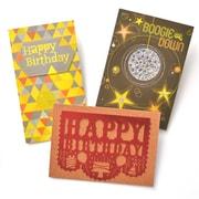 Gartner Greetings Premium Greeting Cards, 3 pack - Birthday, Funky