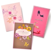 Gartner Greetings Premium Greeting Cards, 3 pack - Birthday For Her