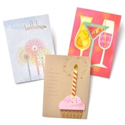 Gartner Greetings Premium Greeting Cards, 3 pack - Birthday Twist of Happy