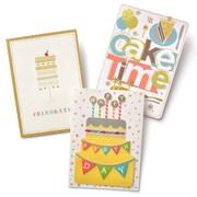 Gartner Greetings Premium Greeting Cards, 3 pack - Birthday Slice