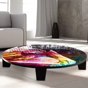 TAF DECOR Butterfly Girl Coffee Table; 36'' (Diameter)