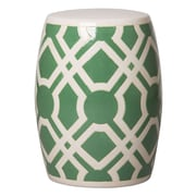 Emissary Labyrinth Garden Stool; Meadow Green