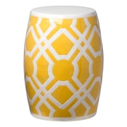 Emissary Labyrinth Garden Stool; Yellow