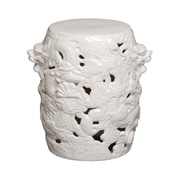 Emissary Dragon Stool; White