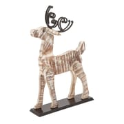 Woodland Imports Home Decor Painted Deer; Brown