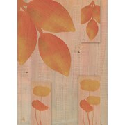 Green Leaf Art Leaves Of Fall 2 Painting Print on Wrapped Canvas