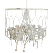 A&B Home Group, Inc Drum Chandelier; White