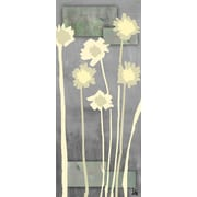 Green Leaf Art Contemporary Flowers 1 Painting Print on Wrapped Canvas
