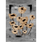 Green Leaf Art Tulips On Frame Painting Print on Wrapped Canvas
