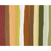 Green Leaf Art Stripes 2 Painting Print on Wrapped Canvas