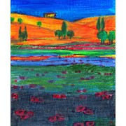 Green Leaf Art Field of Color 2 Painting Print on Wrapped Canvas