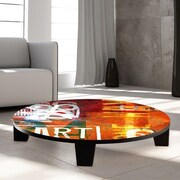TAF DECOR Art Street Coffee Table; 36'' (Diameter)