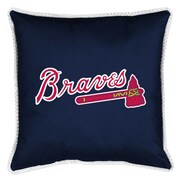 Sports Coverage MLB Atlanta Braves Sidelines Throw Pillow
