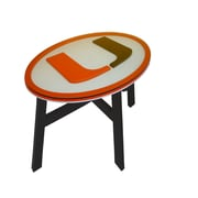 Fan Creations NCAA End Table; University of Miami