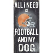 Fan Creations NFL Football and My Dog Graphic Art Plaque; Cleveland Browns
