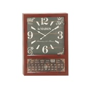 Woodland Imports Metal Calendar Oversized 28'' Wall Clock