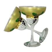 Golden Hill Studio Grapes 'n Vines Margarita Glass (Set of 2)