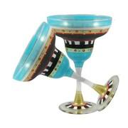 Golden Hill Studio Mosaic Chalk Margarita Glass (Set of 2)