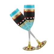 Golden Hill Studio Mosaic Chalk Champagne Glass (Set of 2)