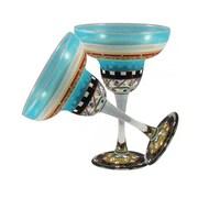 Golden Hill Studio Mosaic Carnival Margarita Glass (Set of 2)