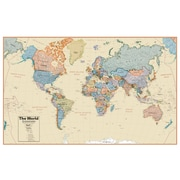 Waypoint Geographic World Boardroom 1:27 Laminated Wall Map