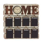 Woodland Imports Antique 26'' Styled Brilliant Wood Memo Clock