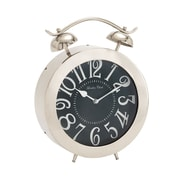 Woodland Imports Bold and Bubbly Stainless Steel Table Clock