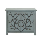 Woodland Imports Patterned Wood Cabinet