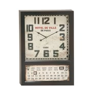 Woodland Imports Metal Calendar Oversized 28'' Wall Clock