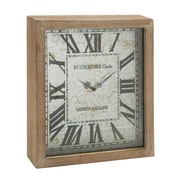Woodland Imports Timelessly Rustic Wood Wall Clock; Light Brown